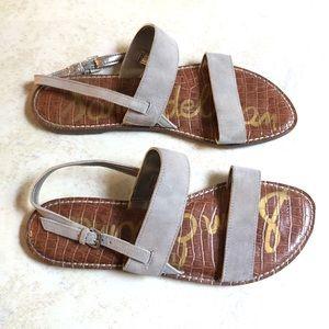 Sam Edelman Grey Suede Sandals Size 11